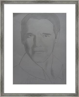 Arnald Framed Print by Uzair Talha
