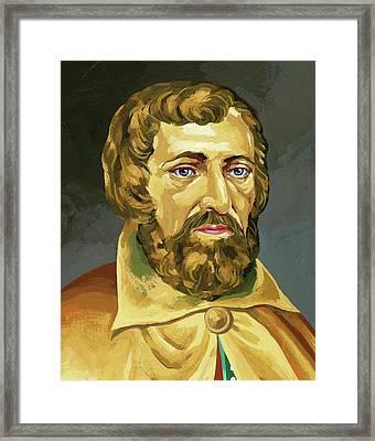 Arnaldus De Villa Nova (valencia, H Framed Print by Prisma Archivo