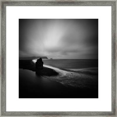 Framed Print featuring the photograph Arnardrangur  by Frodi Brinks