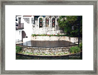 Arneson River Theater Stage On The Riverwalk La Villita San Antonio Texas Diffuse Glow Digital Art Framed Print