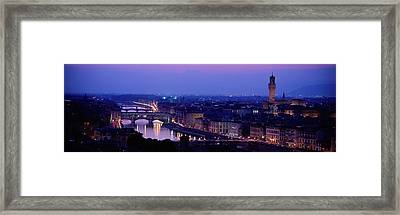 Arno River Florence Italy Framed Print by Panoramic Images