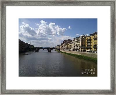 Arno River Framed Print