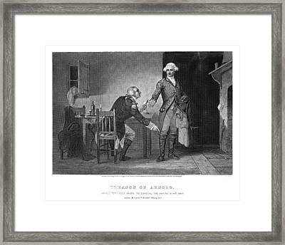 Arnold & Andre, 1780 Framed Print by Granger
