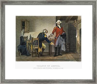 Arnold And Andre, 1780 Framed Print by Granger