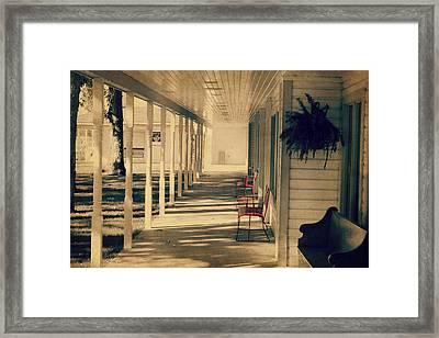 Arnold Park's Shops Framed Print
