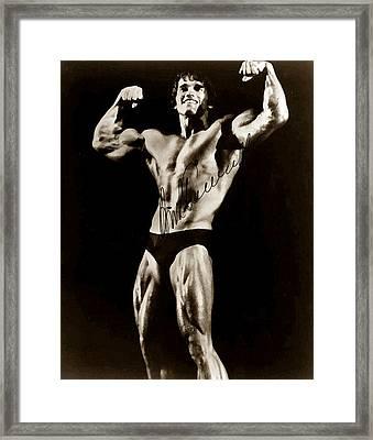 Arnold Schwarzenegger Framed Print