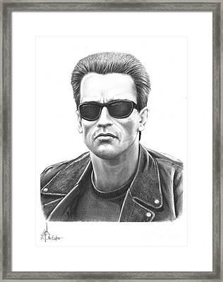 Arnold Schwarzenegger Terminator Framed Print