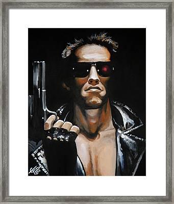 Arnold Schwarzenegger - Terminator Framed Print