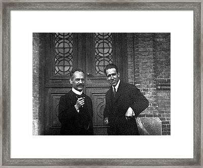 Arnold Sommerfeld And Niels Bohr Framed Print