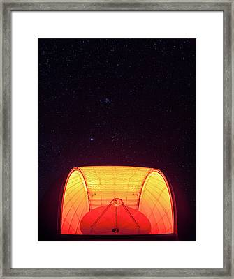 Aro Telescope Framed Print by Babak Tafreshi