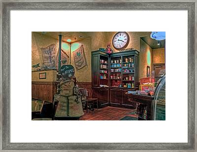 Framed Print featuring the photograph Aromas Coffee Shop Newport News Virginia by Jerry Gammon