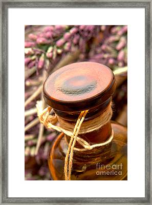 Aromatherapy Bottle Framed Print by Olivier Le Queinec