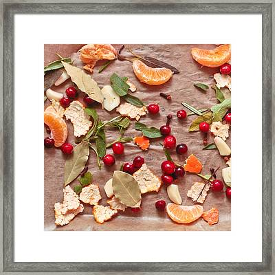 Aromatic Ingredients Framed Print