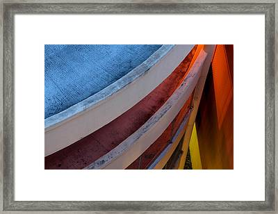 Around And Down Framed Print