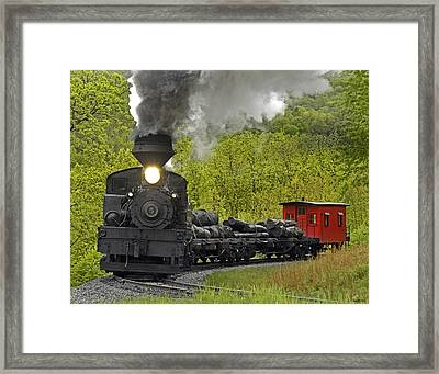 Around The Bend 012 Framed Print