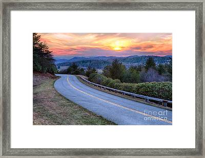 Around The Bend - Blue Ridge Parkway Framed Print by Dan Carmichael