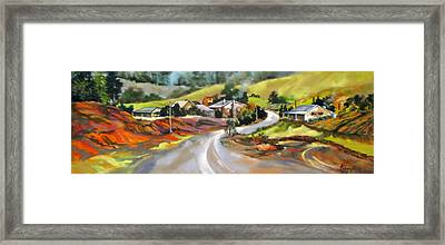 Around The Bend Framed Print by Rae Andrews