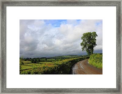 Around The Bend Framed Print by Theresa Selley