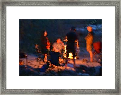 Around The Campfire Framed Print by Kevin Felts
