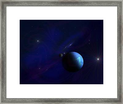 Around The Cosmos Framed Print by Ricky Haug