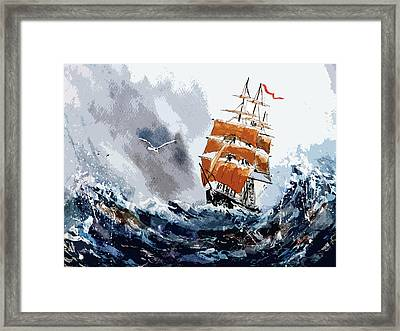 Framed Print featuring the painting Around The Horn by Steven Ponsford