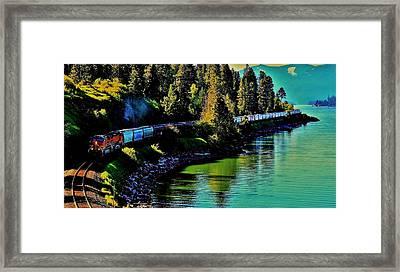 Around The Lake Framed Print