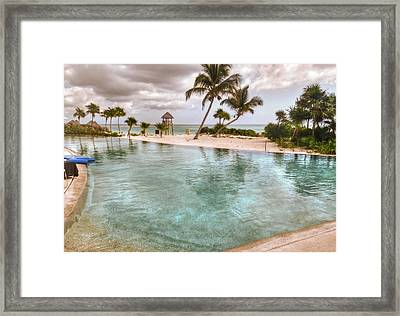 Around The Pool-waiting For The Storm Framed Print by Eti Reid