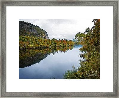Around The River Bend Framed Print by Edward Fielding