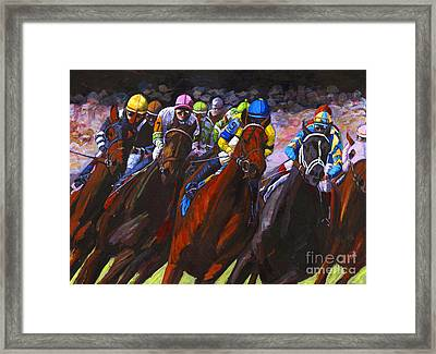 Around The Turn They Come Framed Print by Thomas Michael Meddaugh