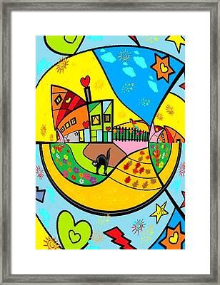 Around The World By Nico Bielow Framed Print by Nico Bielow