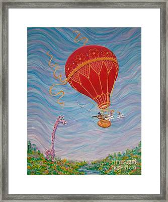 Framed Print featuring the painting Around The World by Dee Davis