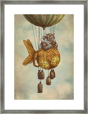 Around The World In The Goldfish Flyer Framed Print by Eric Fan