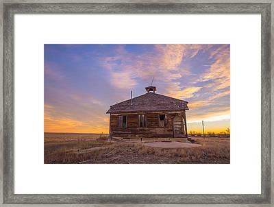 Aroya School Colorado Framed Print