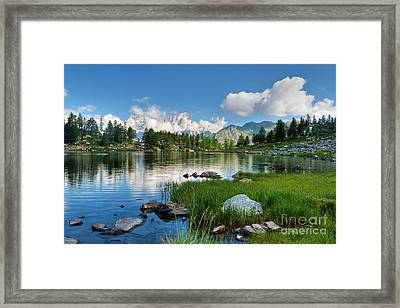 Arpy Lake - Aosta Valley Framed Print by Antonio Scarpi