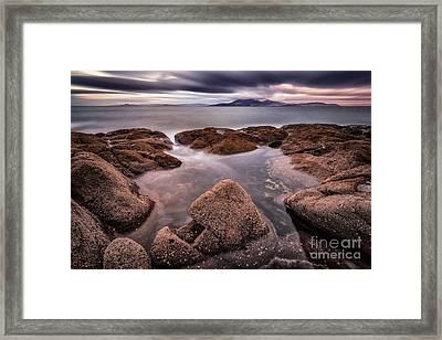 Arran At Sunset Framed Print by John Farnan