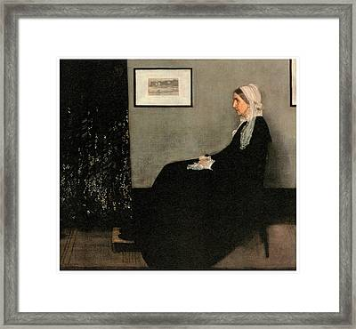Arrangement In Grey And Black No 1 Framed Print by James Abbott McNeill Whistler