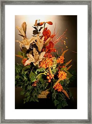 Arrangement Of Flowers Framed Print by Diane Merkle