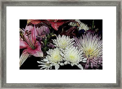 Array Of Flowers Framed Print