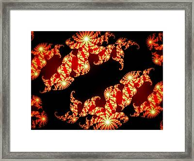 Array Of Lights Framed Print by Marilyn Holkham