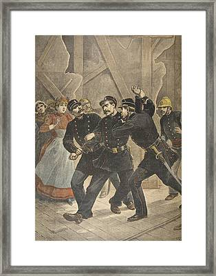 Arrest Of A Town Sergent, Illustration Framed Print by French School