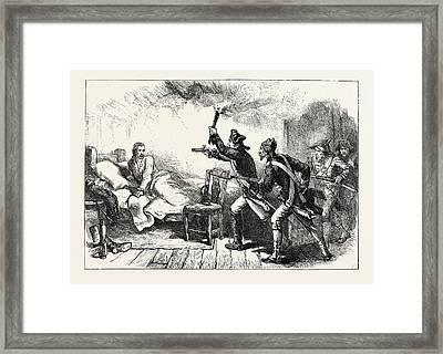 Arrest Of General Prescott, Us, Usa Framed Print
