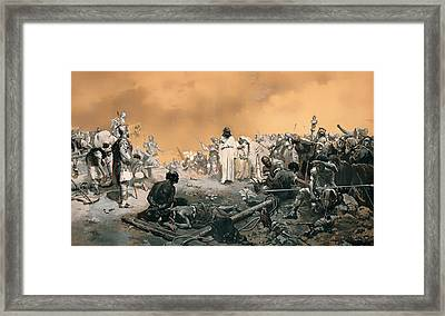 Arrival At Calvary Framed Print by Mountain Dreams