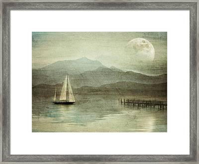 Arrival Framed Print by manhART