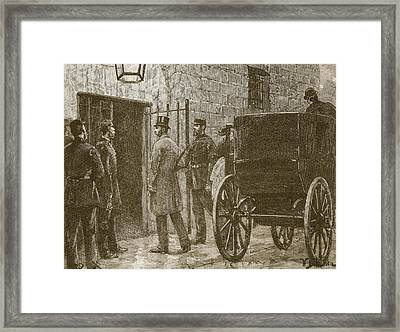 Arrival Of Mr Parnell At Kilmainham Framed Print by William Barnes Wollen