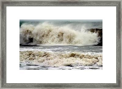 Arrival Of Sandy Framed Print by Karen Wiles