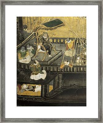 Arrival Of The Portuguese To Japan Framed Print by Everett