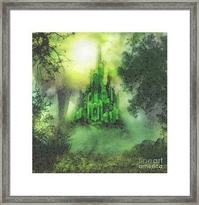 Arrival To Oz Framed Print by Mo T
