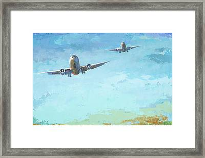 Arrivals #3 Framed Print by David Palmer