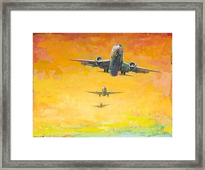 Arrivals #4 Framed Print by David Palmer