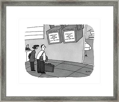 Arrivals: 'check Out Our Web Site Framed Print by Peter C. Vey